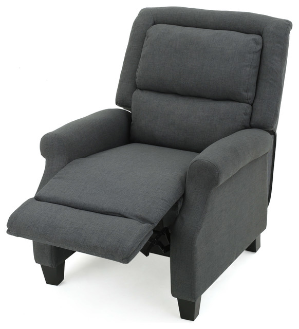 Monica Dark Gray Fabric Recliner transitional-recliner-chairs  sc 1 st  Houzz & Monica Dark Gray Fabric Recliner - Transitional - Recliner Chairs ... islam-shia.org