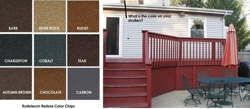 rustoleum paint color chartDeck Color