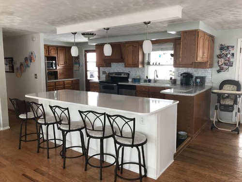 Help With My Kitchen Ugly Cabinets In Open Concept House - Should i remodel my kitchen