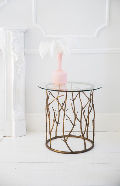 branching out art deco side table contemporary living
