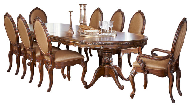 Lavelle Melange 7-Piece Oval Pedestal Dining Table