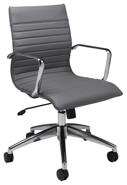 Pastel Janette Office Chair Chrome And Aluminum Office Chairs - Grey office chair