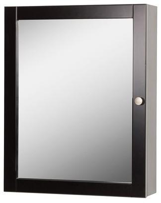 """19"""" Columbia Mirrored Medicine Cabinet, Espresso."""