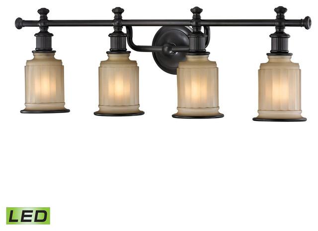 Elk Lighting Acadia 4-Light Bathroom Lighting Fixture, Oil