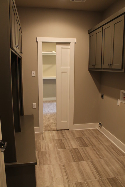 Laundry / mud room with access to master closet - Transitional - Laundry Room - Little Rock - by ...