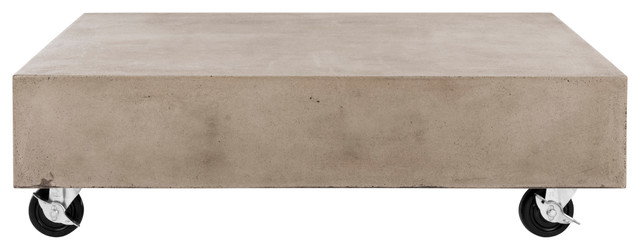 Gargon Coffee Table With Casters, Dark Gray Finish.