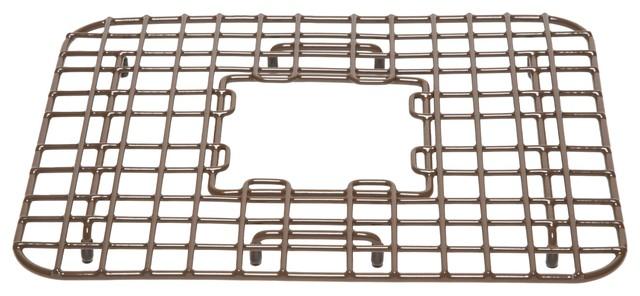 "Gehry 14"" Copper Kitchen Sink Grid, Antique Brown"