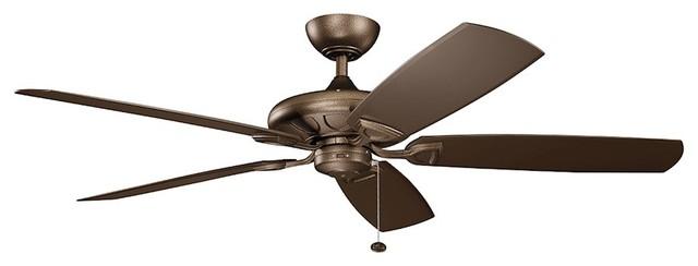 "Kichler Kevlar 60"" Fan, Weathered Copper Powder Coat, Brown."