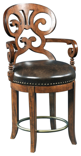 Hooker Furniture Jameson Traditional Leather Counter Stool 300 25016