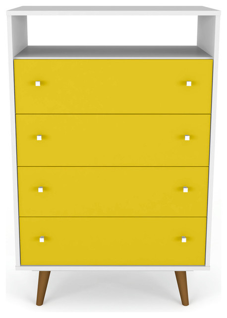 Liberty Dresser, White And Yellow.