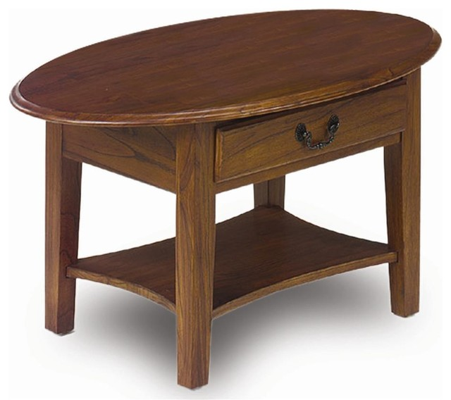 Leick Furniture Oval Coffee Table Reviews Houzz