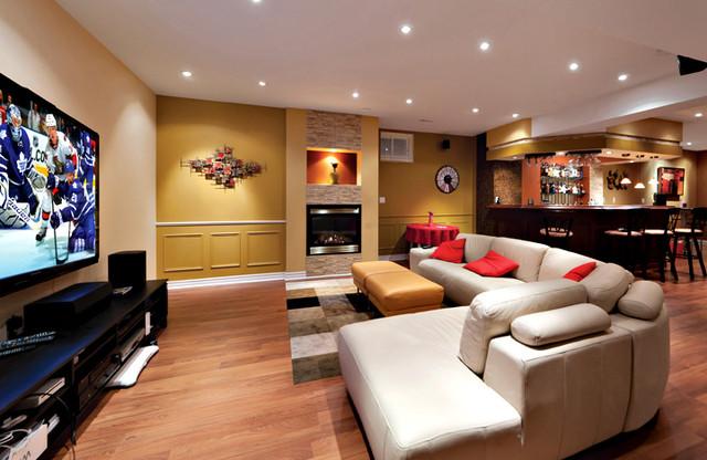 Open Concept Basement Ideas Basement Toronto By