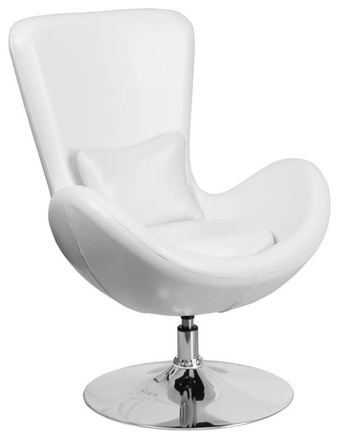 Fine Modern White Leather Side Reception Chair Machost Co Dining Chair Design Ideas Machostcouk