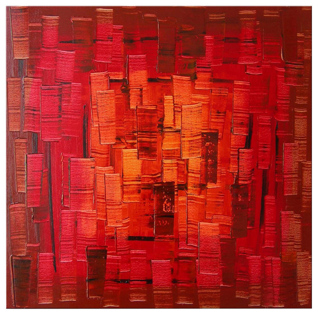 """Darco Arte """"red Light 142"""" Painting, 31""""x31""""."""