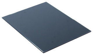 "14"" W x 18.25"" D Glass Top, Black Color"