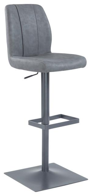 stitched back oversized pneumatic stool contemporary