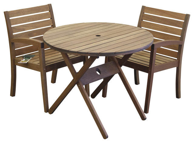 timbo vila rica bistro set round table and 2 chairs with arms