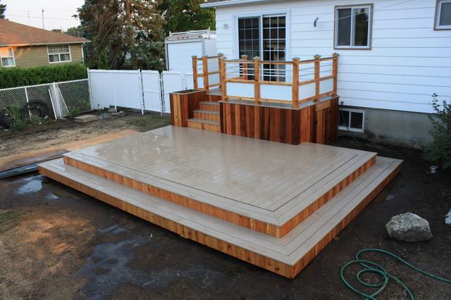 Custom Trex Decksu0026patios Contemporary Deck