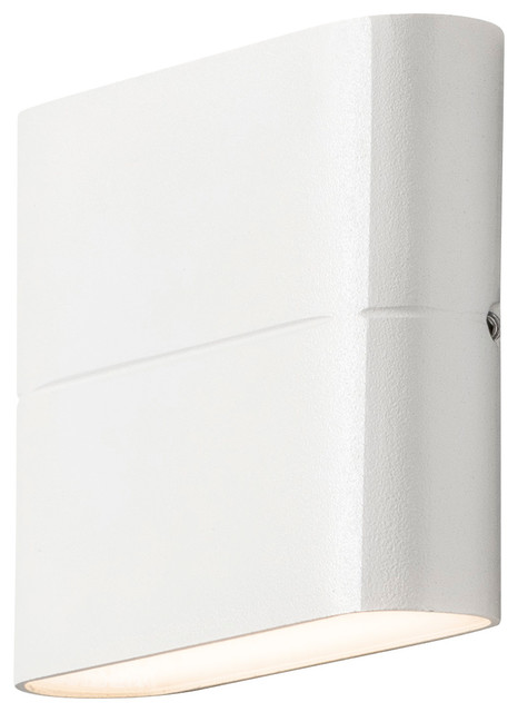 Chieri Up Down Outdoor Wall Light, Matte White, Small