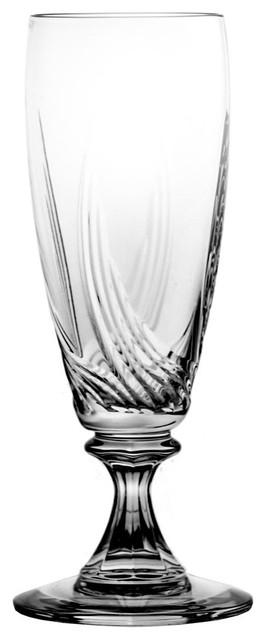 Aurora Lead Crystal Beer Glasses, Set of 6