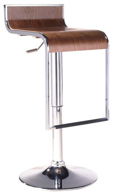 Modern Contemporary Dining Kitchen Wood Bar Stool Natural
