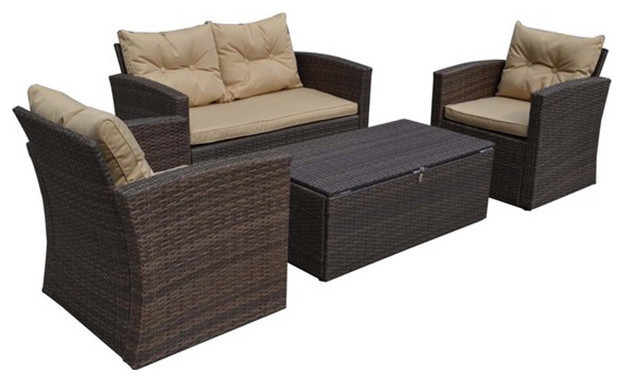 Astonishing Imperia 4 Piece Outdoor Loveseat And Chairs Beige Seating Cushions Beige Unemploymentrelief Wooden Chair Designs For Living Room Unemploymentrelieforg