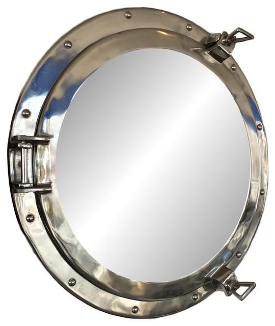 Deluxe Class Porthole Mirror, Chrome, 20&x27;&x27;.