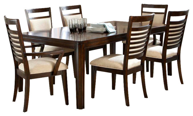 Standard Furniture Avion 8-Piece Dining Room Set in Cherry ...