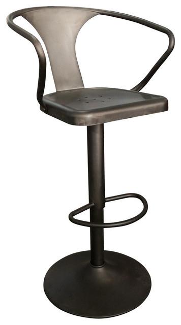 Strange Adjustable Hydraulic Gunmetal Stool Machost Co Dining Chair Design Ideas Machostcouk