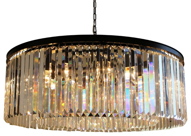 12 light round clear glass fringe crystal prism chandelier 12 light round clear glass fringe crystal prism chandelier clear glass aloadofball Choice Image