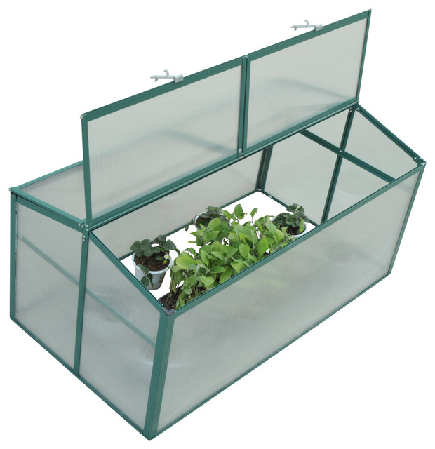 Outsunny 52x28 Aluminum Vented Cold Frame Greenhouse.