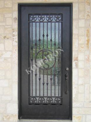 Iron Doors Design Fascinating Simple Design For Single Square Iron Doors011 Front Door Or . Review
