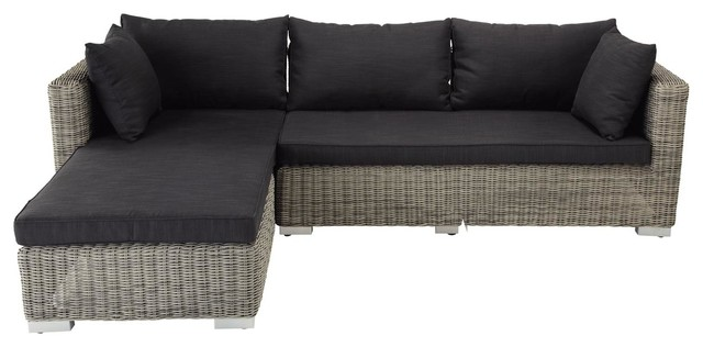 Charcoal grey outdoor corner sofa Cape Town Modern Garden Sofas by Mais
