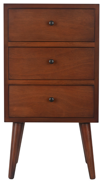 side table with drawer JaMid Century 3 Drawer Wooden Side Table   Midcentury   Side  side table with drawer