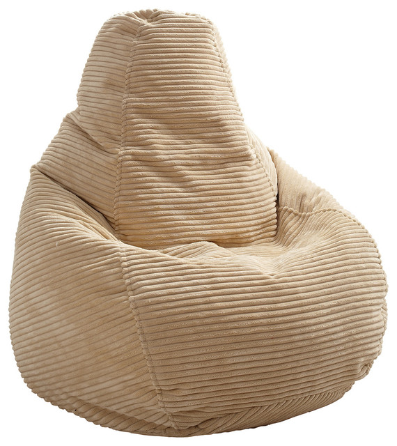 Corduroy Bean Bag Beige
