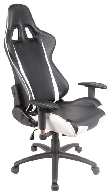 lounge racing car seat office jeep game chair black white leather modern office