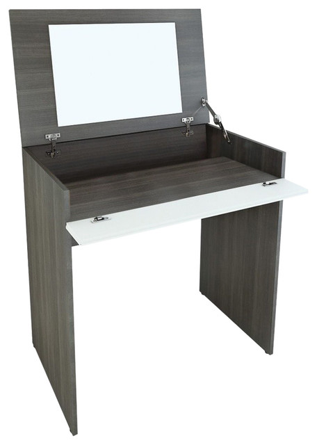 Tremendous Allure Vanity With Enclosed Storage And Mirror From Nexera Gmtry Best Dining Table And Chair Ideas Images Gmtryco