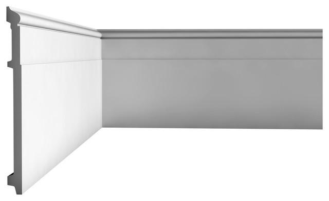 "Orac Decor Plain Duropolymer Baseboard Moulding, Height: 7-7/8""."