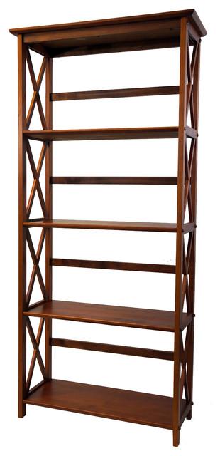 Madison Bookcase, 5-Shelf, Walnut.