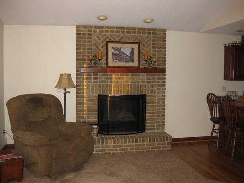 Living Room Ideas No Windows no windows on sides of fireplace; awkward walls to decorate; need help