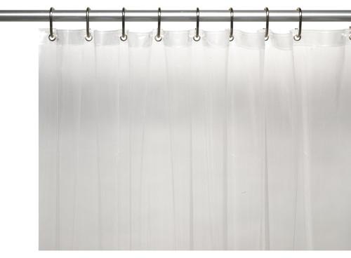 "Extra Wide 5 Gauge Vinyl Shower Curtain Liner, Super Clear, 108"" W X 72"" L"