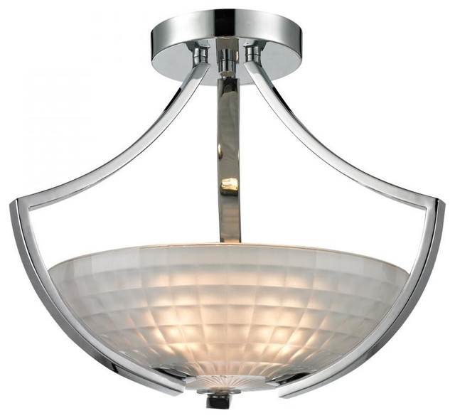 Sculptive 3 light semi flush contemporary flush mount for Semi flush mount lighting modern
