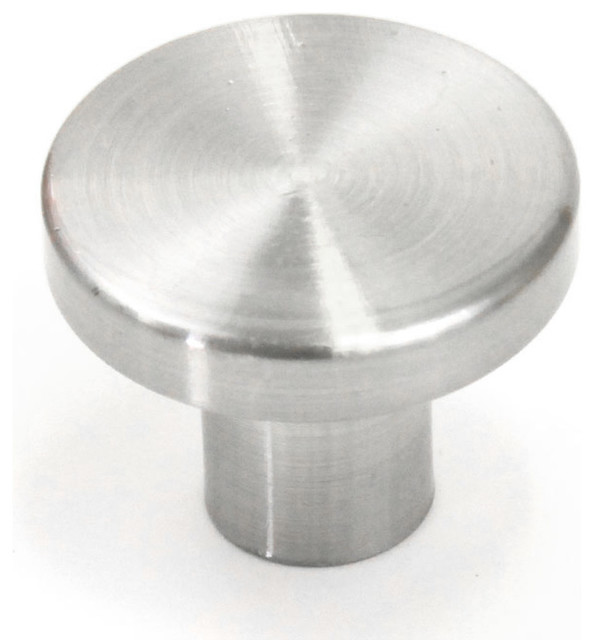 Ale Cabinet Pull Knob Brushed Nickel Finish   Contemporary   Cabinet ...