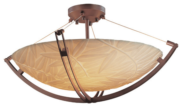 Ceiling Light Crossbar : Justice design pna quot semi flush bowl with