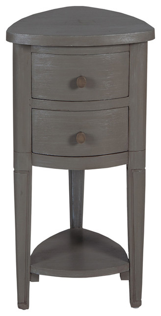 Shop Houzz Guild Master Grey Corner Accent Table With