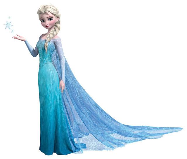 Queen Elsa Wall Accent Disney Frozen Sticker  : contemporary wall decals from www.houzz.com size 640 x 544 jpeg 56kB