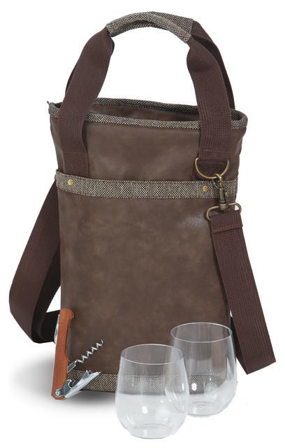 Omega Single Bottle Bag, Espresso