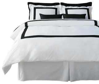 Boutique Hotel Collection Black Duvet Cover Set, King