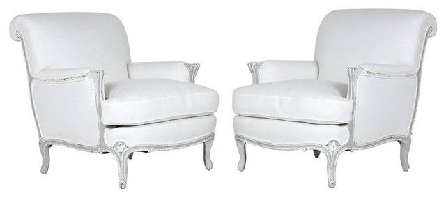 Awe Inspiring Consigned French Louis Xv Style Bergeres Set Of 2 Bralicious Painted Fabric Chair Ideas Braliciousco