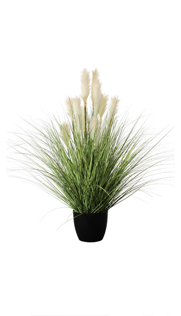 Potted Reed River Grass Set Of 2 4 Modern Artificial Plants And Trees By Amazing Green Inc